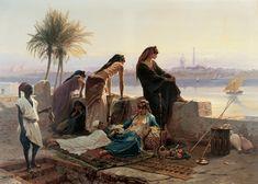 Eugène Giraud - Une terrasse au borde du Nil