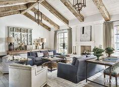 living room with rustic touches | Laurel Pfannenstiel Interior Desgin