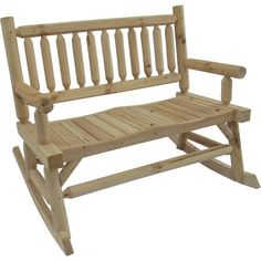 This cedar rocking Adirondack loveseat is a great place to sit and enjoy life. With its contoured seats and smooth rocking action, you'll b. Backyard Furniture, Porch Furniture, Living Furniture, Outdoor Furniture, Outdoor Decor, Outdoor Living, Portable Sheds, Off Grid Cabin, Living Etc