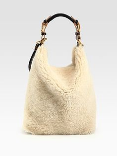 I shouldn't like it but I do - Marni Shearling Shoulder Bag