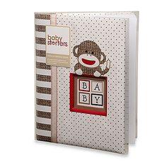 Baby Starters® Sock Monkey Memory Book in Tan