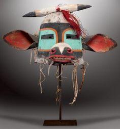 WAKASKATSINA - Masque Heaume Kachina-Vache. Wakas ou cow Kachina