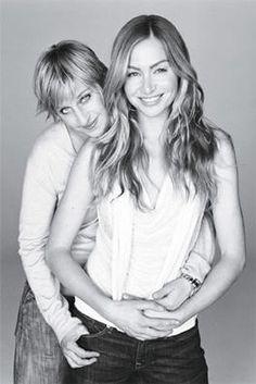 Ellen Degeneres and Portia de Rossi photographed by Michael Thompson.