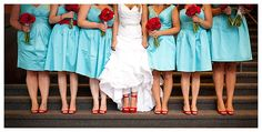 www.weddingrowcalifornia.com | Colon Griffith Photography | blue/green bridesmaid dresses