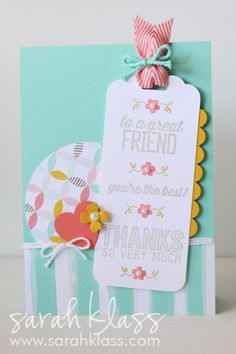 Sarah Klass - Independent Stampin' Up! Demonstrator