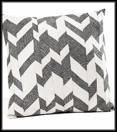 Love this chevron patch pillow!