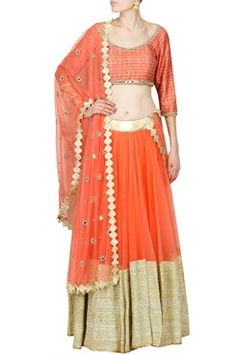 Abhinav Mishra indian designer online latest collection of embroidered lehengas  #carma #carmaonlineshop #style #fashion #designer #indianfashion #indiandesigner #couture #shopnow #abhinavmishra #instapost #ootd #wedding #luxefashion #orange #gota #lehenga