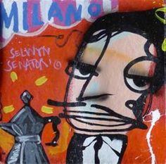 Kunstwerk: Ten Gangsters IV van kunstenaar Selwyn Senatori