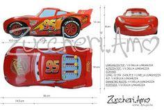 Zuccheri.amo: Cars Lightning McQueen cake tutorial