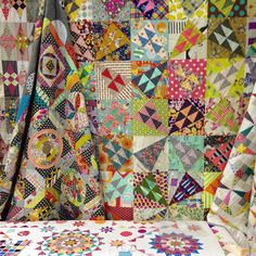 Jen Kingwell quilts. Spring Quilt Market 2015 in Minneapolis. Photo by Carolyn Friedlander