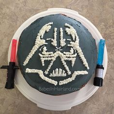 """""""Today we're playing """"Babes in Cakeland!"""" While I admit I'm rather impartial about the whole Star Wars thing, my husband is a pretty big fan. It's his bday today so I whipped this bad boy up for him! What do ya think? #starwars #cake #darthvader #maytheforcebewithyou #bake #happybirthday #babesinhairland #babesinhairlandblog #yummy #chocolate"""" Photo taken by @babesinhairlandblog on Instagram, pinned via the InstaPin iOS App! http://www.instapinapp.com (01/08/2016)"""