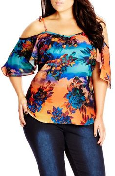 City Chic 'Summer Nights' Off the Shoulder Top (Plus Size) available at #Nordstrom
