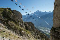 Wingsuit Vs Highline : Awesome Chamonix Brevent World Best Stunt Record ...