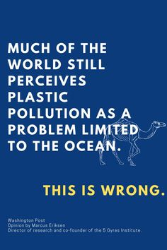 """Plastic is an everywhere, everything, four-alarm crisis, and breaking the association with it being """"just"""" an ocean problem is critical. The amount of plastic created every year outweighs humanity. If 769 pounds of plastic enters the world's oceans every SECOND around the clock, imagine how much ends up in fresh water, soil, air and landfills. It's madness and it has to stop. Free School Supplies, Waste Solutions, Plastic Pollution, Back To School Shopping, Zero Waste, Wisdom, Oceans, Fresh Water, Madness"""