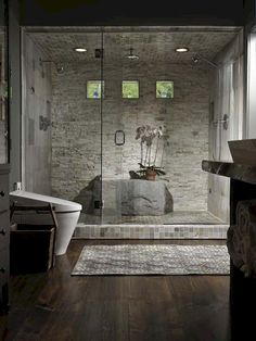 Fresh and cool master bathroom remodel ideas on a budget (24)