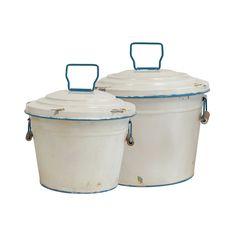 Martha Tin Buckets - Set of 2