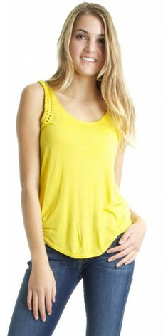 RVCA Ankara Tank in Lemon Curry - Urban Laundry (urbanlaundry.com)