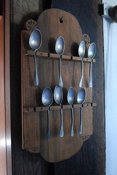 Pewter Spoon Rack