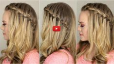Most current Free I love waterfall braids and this easy step-by-step video will have you mastering. Strategies I love waterfall braids and this easy step-by-step video will have you mastering… # Easy Hairstyles For Thick Hair, Half Braided Hairstyles, Shaved Side Hairstyles, Braided Half Updo, Crochet Braids Hairstyles, Down Hairstyles, Teenage Hairstyles, Trendy Hairstyles, Girl Hairstyles