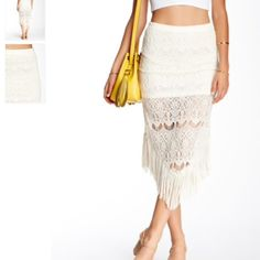 Nwt Romeo and Juliet couture fringe skirt no trade No flaws brand new Romeo & Juliet Couture Skirts