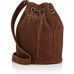 Jerome Dreyfuss Women's Popeye Large Shoulder Bag (11 305 UAH) ❤ liked on Polyvore featuring bags, handbags, shoulder bags, brown, drawstring purse, flat purse, studded handbags, shoulder strap bags and patchwork purse