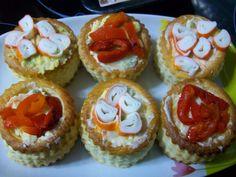 Volovanes rellenos de ensaladilla #tarteletas #aperitivo