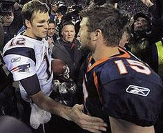 Brady and Tebow after the game
