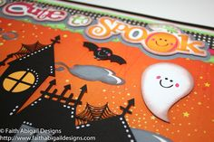 "Faith Abigail Designs: Too Cute to Spook 12""x12"" Double Page Scrapbook Layout"