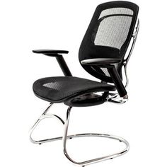 @Overstock - AtTheOffice One Series Black Mesh Guest Chair - Make an impression as you invite guests to sit in this superior chair that sits as good as it looks. Designed with sculptured lines of cast aluminum and polished to a rich finish, this is truly a stand-out designer-style chair.  http://www.overstock.com/Office-Supplies/AtTheOffice-One-Series-Black-Mesh-Guest-Chair/9332665/product.html?CID=214117 $474.00