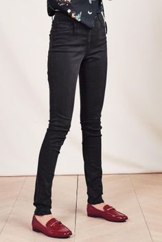 5510874f0aab6 Black Soft Touch Skinny Jeans Work Pants