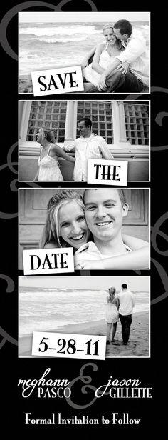 Photo strip Save the Date-such a cute idea Diy Save The Dates, Save The Date Photos, Wedding 2015, Our Wedding, Dream Wedding, Invitation Cards, Invites, Wedding Invitations, Got Married