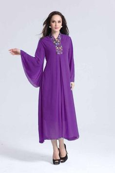 Embellished Beads Jubah Dress -  on @ClozetteCo