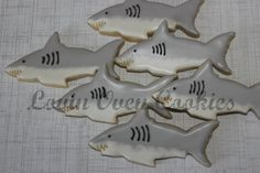 Sharks Dolphins & Killer Whales Decorated Sugar Cookies