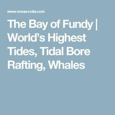 Bay of Fundy & Annapolis Valley Region Nova Scotia Travel, Annapolis Valley, Travel 2017, High Tide, Whales, Rafting, Road Trip, Vacation, Maine