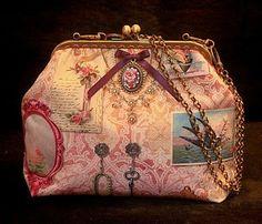 Bolsa de Mão 'Romantic in Pink' handmade by Costura Xtrodnária