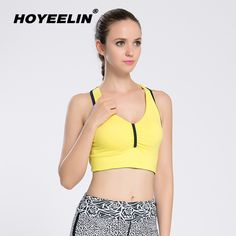344d15a771 HOYEELIN Summer Sportswear Women Professional Shockproof Yoga Bras Backless  Shirts Gym Training Running Vest Fitness Top