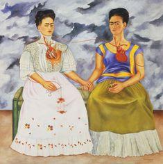 Frida Kahlo (1907 - 1954) est une peintre mexicaine. Elle commence à peindre après un terrible accident des potraits de son entourage et des autoportraits. En 1928 elle adhère au pari communiste mexicain et l'année suivante épouse Diego Rivera célèbre...