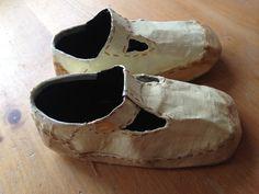 Papier mache shoes