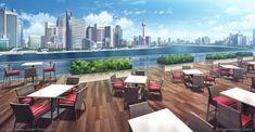 Terrasse restaurant luxury - Visual Novel by giaonp.deviantart.com on @DeviantArt