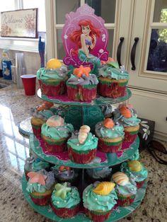 Briannas first birthday little mermaid cup cakes. Little Mermaid Cupcakes, Little Mermaid Birthday, Little Mermaid Parties, Baby Mermaid, The Little Mermaid, Second Birthday Cakes, Baby Birthday, Birthday Parties, Birthday Ideas