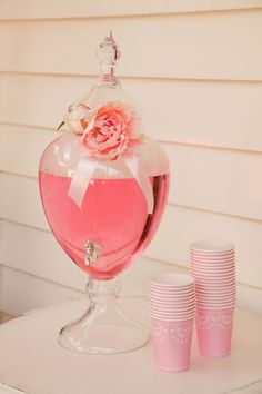 Pretty Pink Ballerina Birthday Party a pretty pink drink