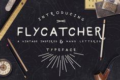 Flycatcher Font by ScissortailLettering on Etsy