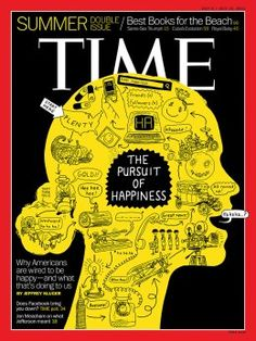 July 8, 2013. The Pursuit of Happiness. Illustration by Peter Arkle for TIME.