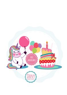 Molde para cartão de aniversario, Dany Martines, unicórnio, unicorn, happy birthday Dani Martinez, 3d Things, Unicorn Party, Diy And Crafts, Minnie Mouse, Easy Diy, Projects To Try, Alice, Happy Birthday