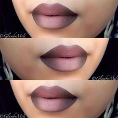 Faded Chocolate - How to Pull Off A Dramatic Ombre Lip - Photos