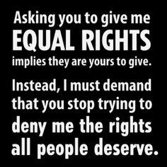 Hence the term equal