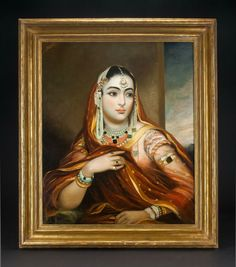 George Duncan Beechey (1798-1852), Portrait of Begum of Oudh, Lucknow, India, circa 1840. Photo courtesy Amir Mohtashemi.