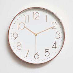 Foxtop 12 Inch Minimalist Silent Sweep Wall Clock with Su...