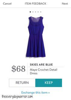 Stitch Fix Review March 2017 - Skies Are Blue Maye Crochet Detail Dress