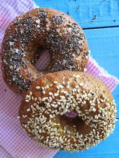Bagels Integrales de Trigo y Avena, Natural and healthy Bagels of Wheat and Oats,